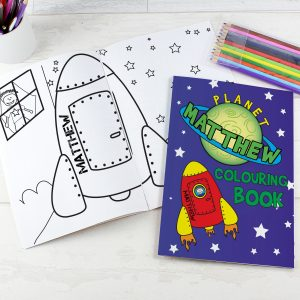 Personalised Colouring Book Space