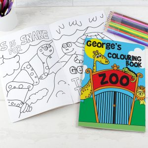 Personalised Colouring Book Zoo