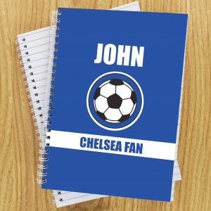 Dark Blue Football Fan Notebook A5