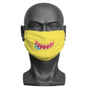 Yellow Little Monster Face mask