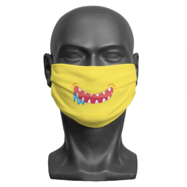 Yellow Little Monster Face mask