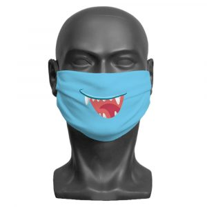 Blue Little Monster Face Mask