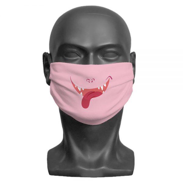 Pink Little Monster Face Mask