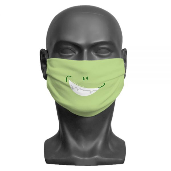 Green Little Monster Face Mask