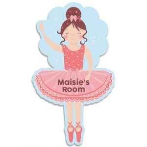 Ballerina Bedroom Door Plaque