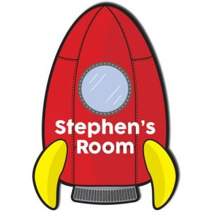Rocket Ship Door Plaque