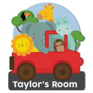 Safari Childs Bedroom Door Plaque