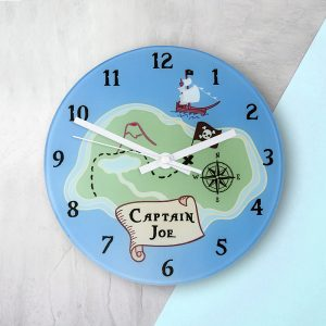Personalised Pirate Wall Clock
