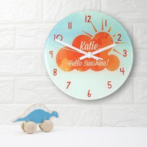 Hello Sunshine Personalised Clock