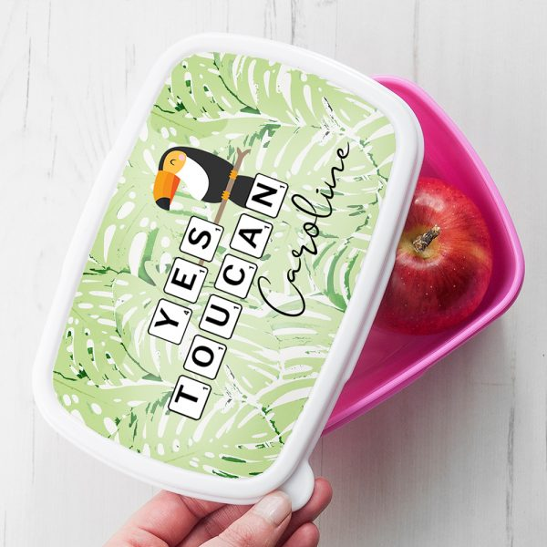 Personalised Yes Toucan Lunch Box