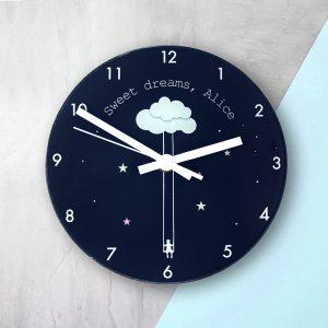 Sweet Dreams Personalised Clock