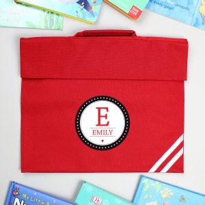 Personalised Initial Red Book Bag