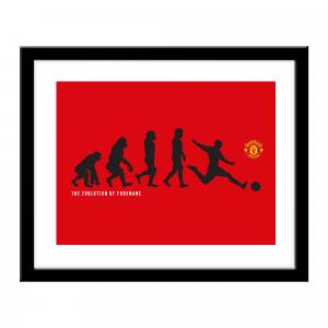 Manchester United FC Evolution Print