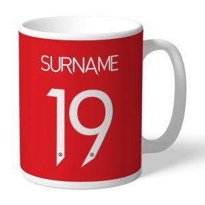 Manchester United FC Back Of Shirt Mug