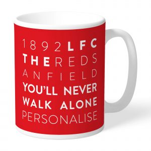 Liverpool FC Word Collage Mug