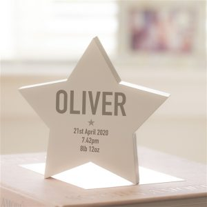 Wooden Modern Personalised Star