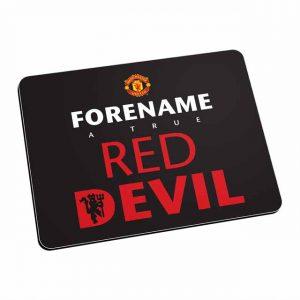 Manchester United FC Red Devil Mouse Mat (Black)