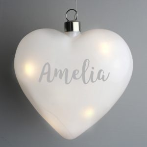 Personalised Name LED Hanging Heart