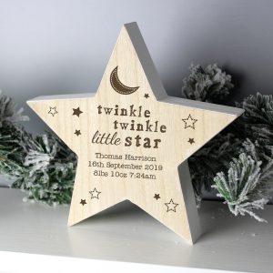Personalised Twinkle Twinkle Star Decoration