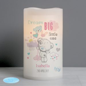 Tiny Tatty Teddy Pink Dream Big LED Candle