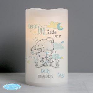 Tiny Tatty Teddy Blue Dream Big LED Candle