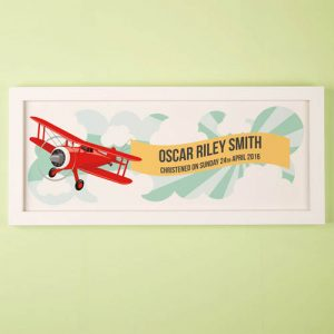 Childs Aeroplane Personalised Framed Print