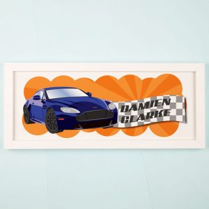 Racing Car Personalised Framed Print