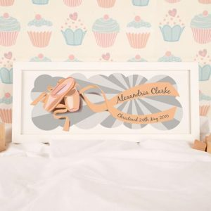 Ballet Shoes Personalised Framed Print