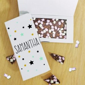 Star Milk Chocolate Card