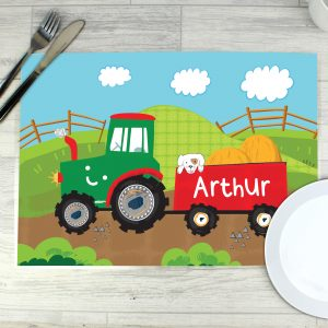 Personalised Tractor Placemat