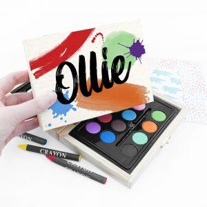 Personalised Colour Splash Mini Colouring Set