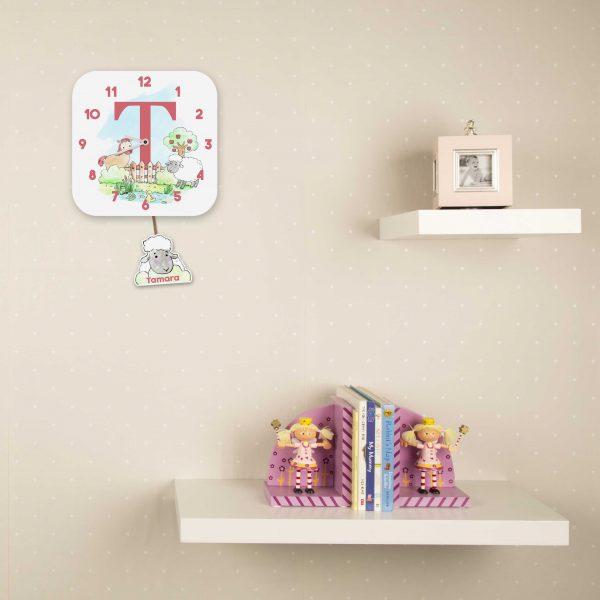 Alphabet Farm Wall Clock