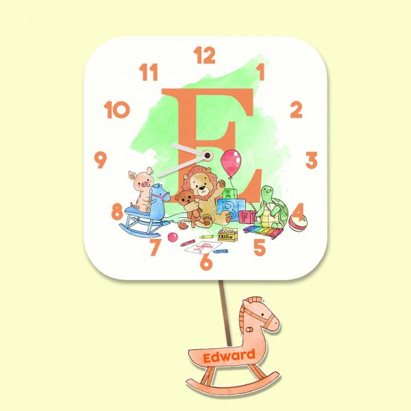 Alphabet Nursery Design Wall Clock