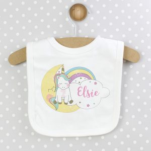Personalised Baby Unicorn Bib
