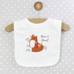 Personalised Mummy and Me Fox Bib