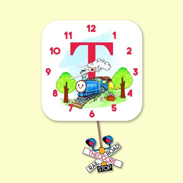 Alphabet Train Clock